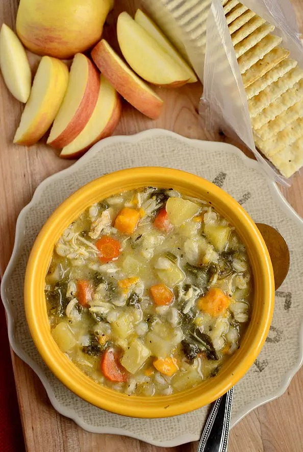 Paleo Chicken Vegetable Barley Soup