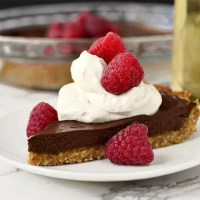Chocolate Tart with Graham Cracker-Almond Crust