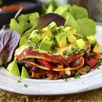Mini Vegetable Enchilada Stacks