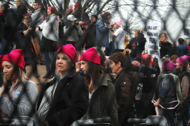 At the Women's March on Independence Avenue. Photo: Gavin Aronsen/Iowa Informer