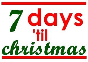 7 day 'til christmas