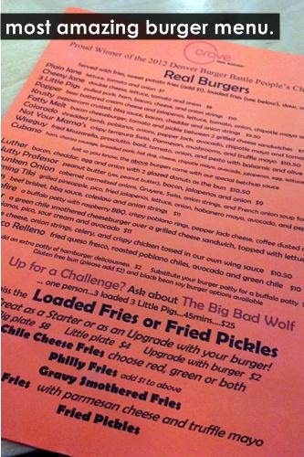 crave menu