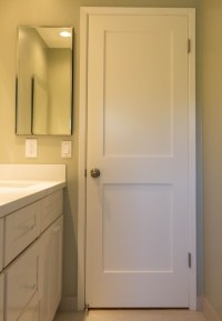 White Interior 2 Panel Shaker Door - Iowa Remodels