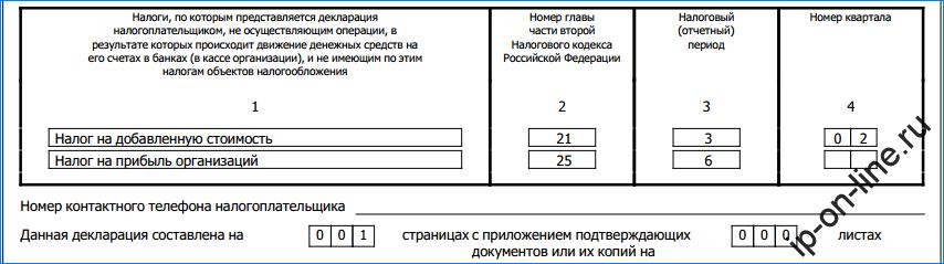 образец заполнения единой налоговой декларации для ип