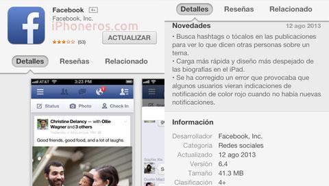 Facebook 6.4
