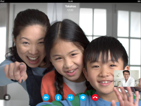 Skype en el iPad