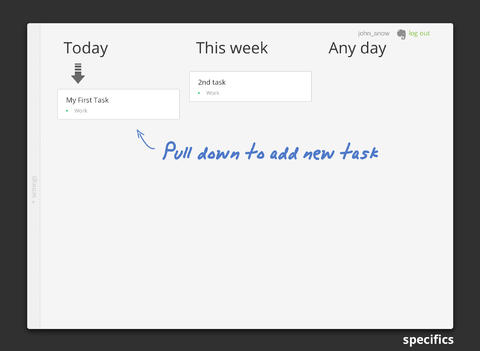 Specifics HD - Notetaker and Task Manager