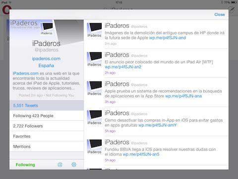 Twitterrific 5 for Twitter iPaderos
