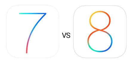 iOS-7-8-Visual-Comparison