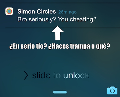 Simon Circles notificacion push 1