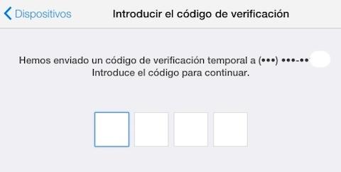 Recibiendo el código de verificación en dos pasos