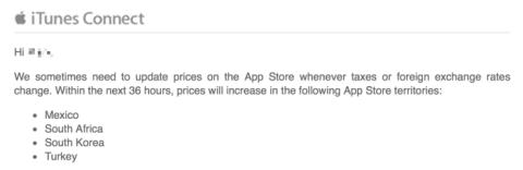 app store mexico sube precio