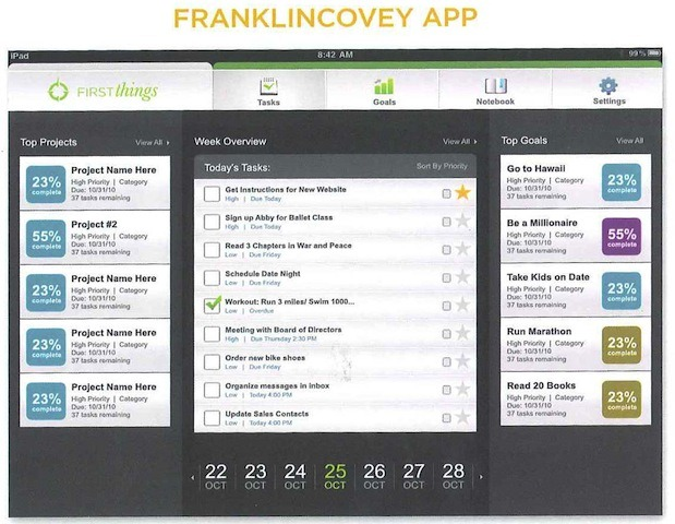 Franklin Covey iPad App Coming in September? iPad Insight