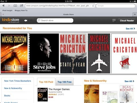 Amazon\u0027s Kindle Store for iPad Is Now a Web App iPad Insight