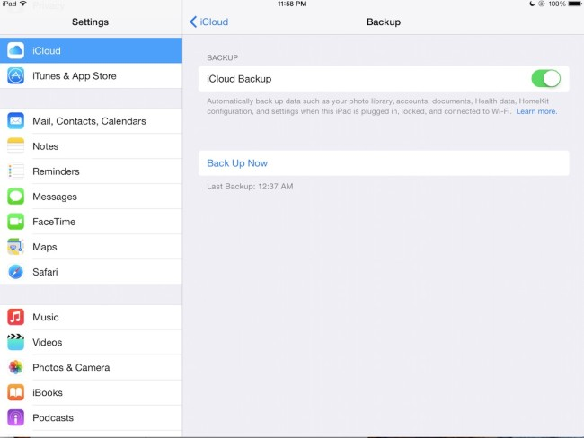 How to set up automatic iCloud backups for your iPad iPad Insight