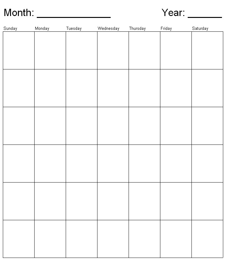 Monthly Calendar, generic sunday starts week template for penultimate - sample power point calendar