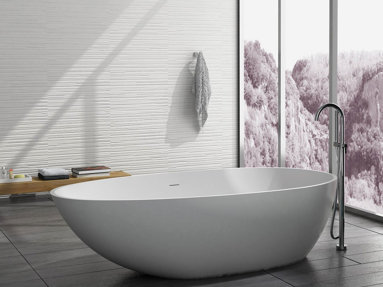 Vasca Ovale Dimensioni Vasca Oval Solid Surface Cm 178x98xh51 Iperceramica
