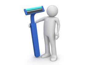 man with razor