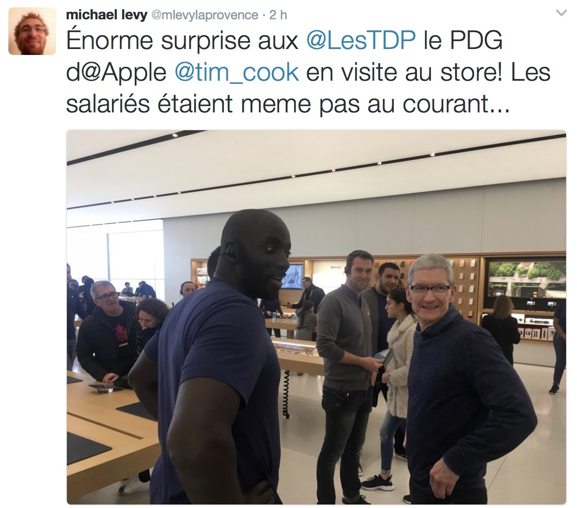 Apple Terrasse Du Port Marseille Màj Paris Aussi Tim Cook En Visite Surprise à L 39apple