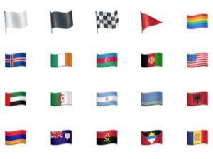 iPhone、絵文字の意味(名前)一覧【旗】
