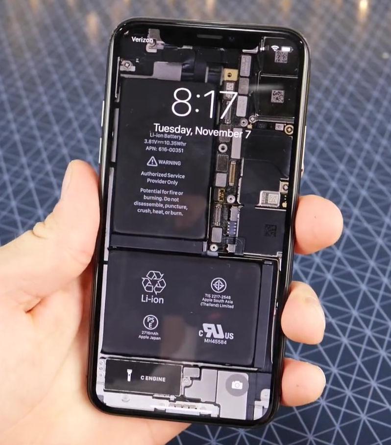 Ifixit Iphone X Wallpaper Iphone Xをスケスケにできるスケルトン壁紙 Iphone Juku