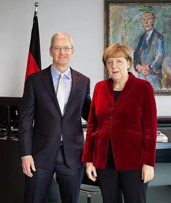 アップルのクックCEO、ドイツのメルケル首相と会談 アップルのティム・クックCEOは、ドイツのメ