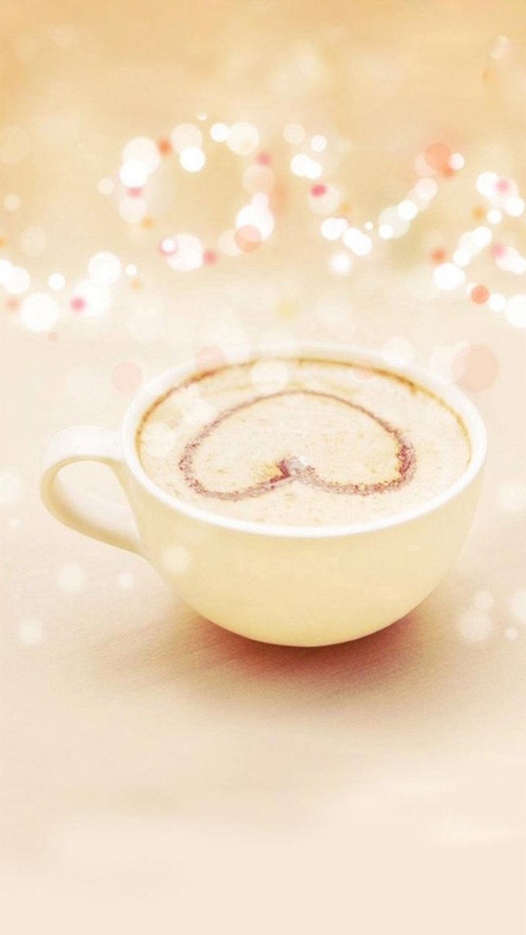 Cute Girly Wallpapers For Phone Heart Latte Art A Girly Iphone Wallpapers Iphone Wallpaper