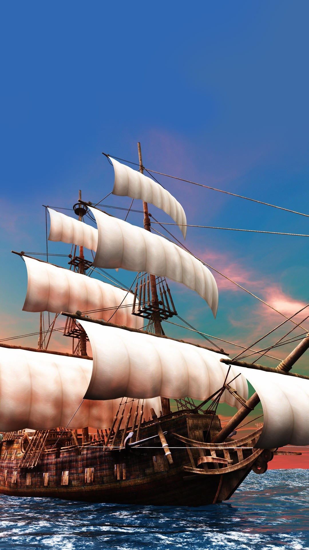 Luxury 3d Wallpaper Pirate Ship Iphone Wallpaper