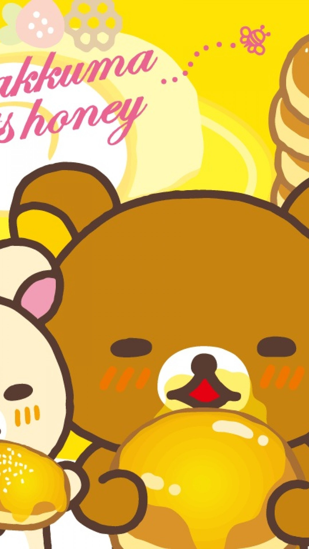 Cute Girly Wallpapers For Android Rilakkuma Iphone6s Wallpaper Iphone Wallpaper
