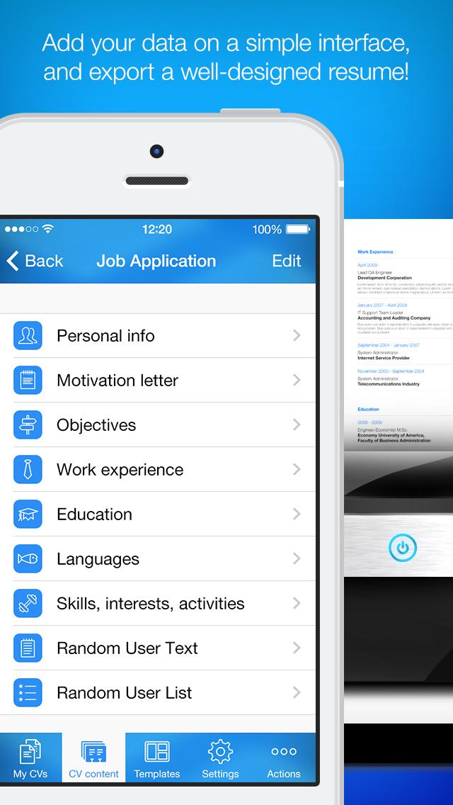 iPhone Giveaway of the Day - Resume Maker - Pro CV Designer - resume maker pro
