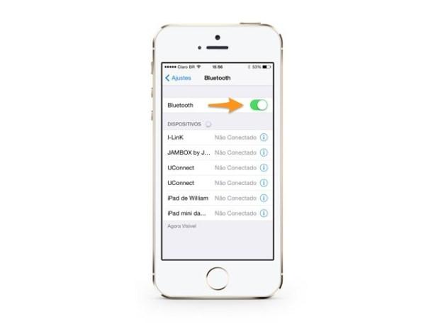 emparelhar bluetooth iphone iOS 7 - Como usar corretamente o bluetooth do seu iPhone no iOS 7