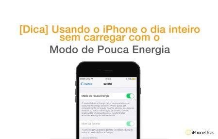 [Economia de Energia] Faça a bateria do seu iPhone durar 2 dias com o iOS 9