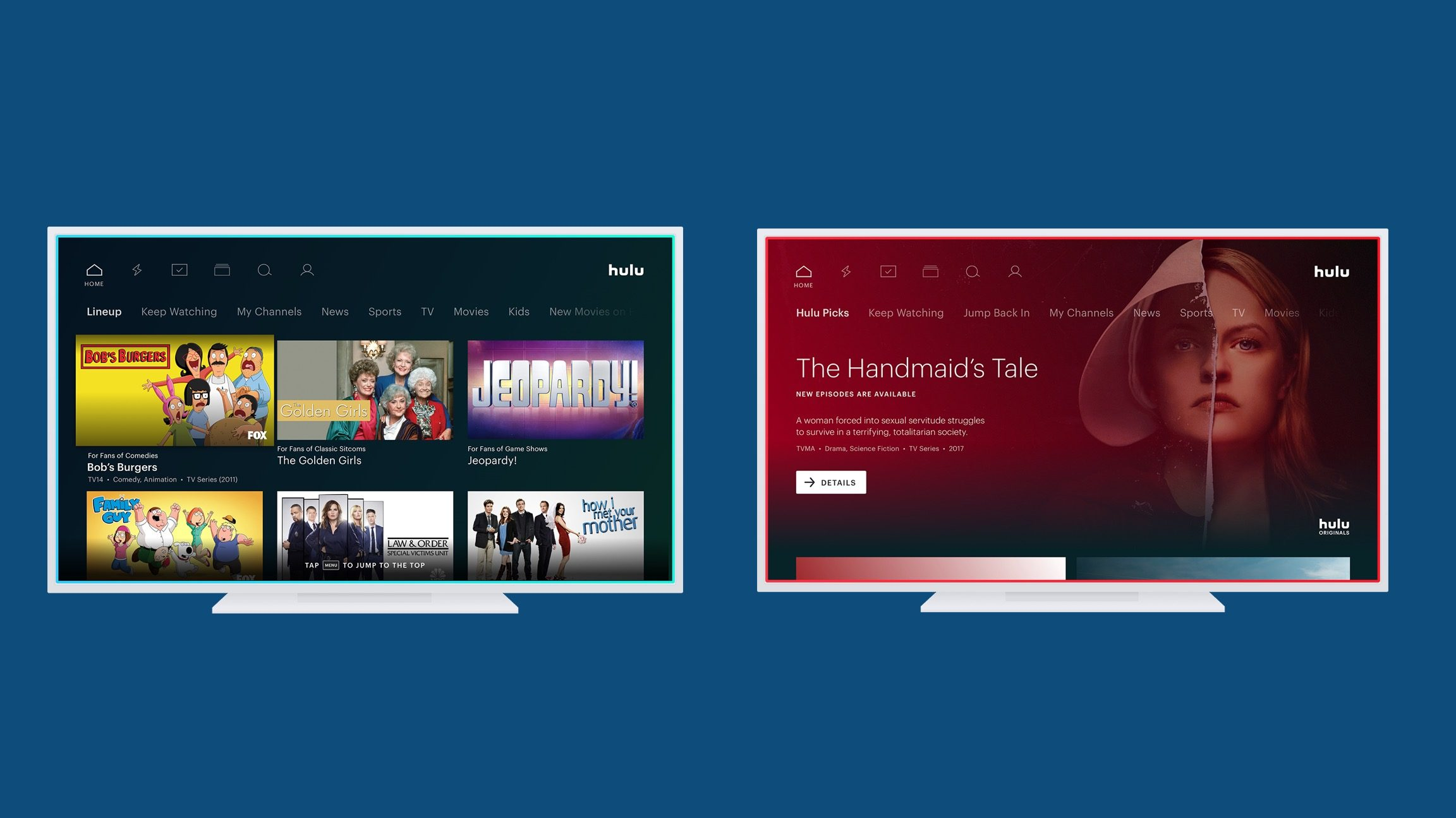 Hulu Hulu Teases Redesigned App With Simplified Navigation New