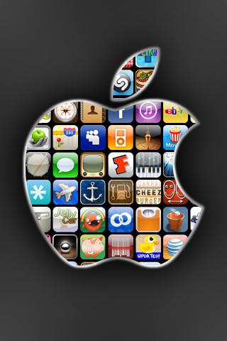 iPhoneFreakz _ All The Latest And Greatest iPhone News » 25 iPhone Wallpapers: Apple Logos