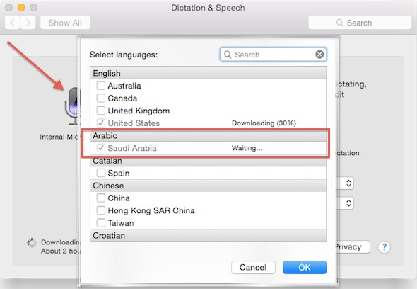 Mac Arabic Dictation