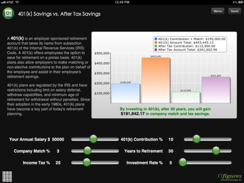 5 Quality 401K Apps for iPhone  iPad - iPhoneNess - 401k calculator
