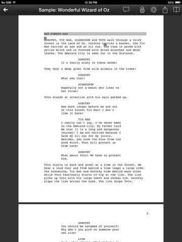 6 iPhone / iPad Apps for Scriptwriting -