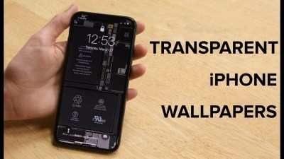 See-Through Wallpapers for iPhone X Let You See What's Inside Your Smartphone