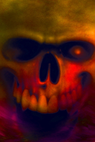 3d Touch Wallpaper Download Iphone Flying Skull Of Horrific Death Free Wallpaper