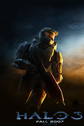 iPhone Halo 3 Free Wallpaper, Halo 3 iPhone Background, Cool iPod Touch Halo 3 Wallpaper, Halo 3 ...