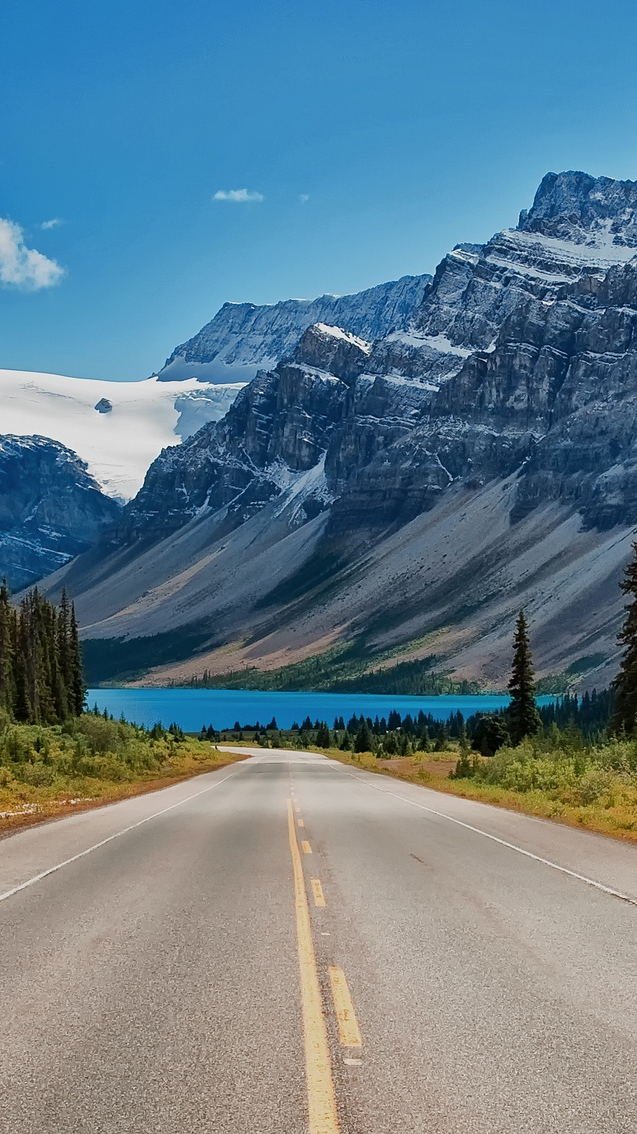 Awesome Phone Wallpapers Quotes Bow Lake Banff National Park Alberta Canada Iphone