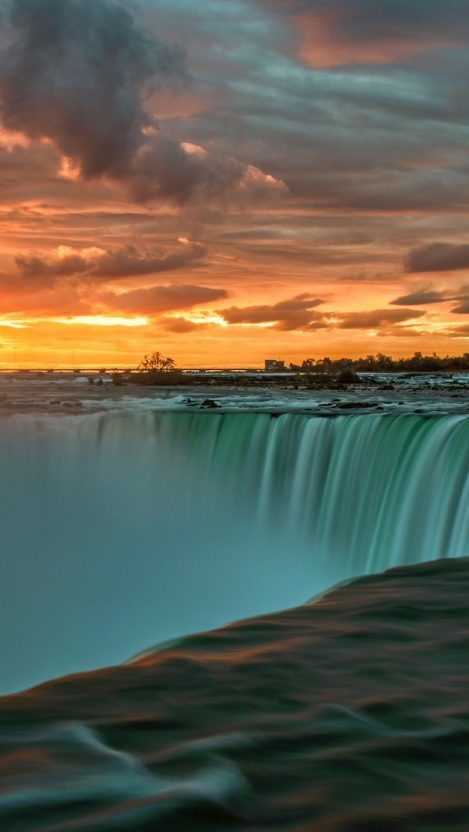 Niagara Falls At Night Wallpaper Niagara Falls Sunset Wallpaper Iphone Wallpaper Iphone