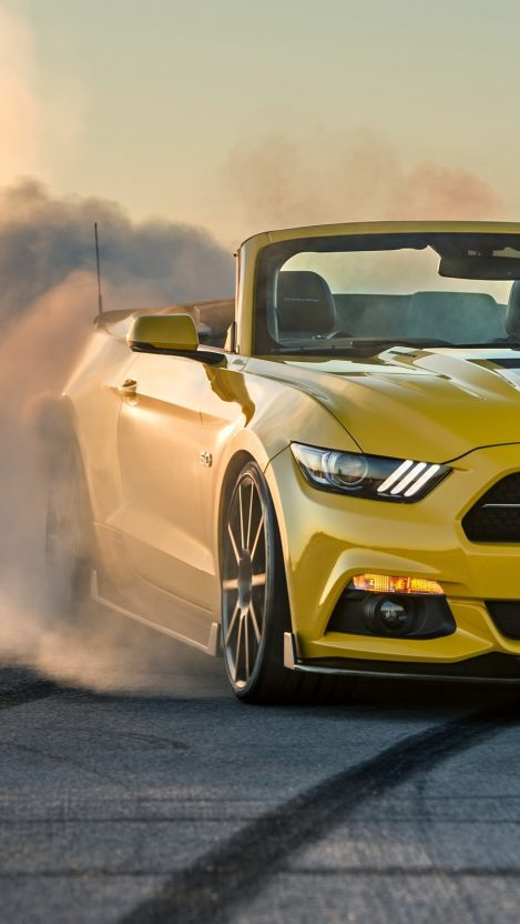 Muscle Car Phone Wallpaper Ford Mustang Gt Convertible Burnout Iphone Wallpaper