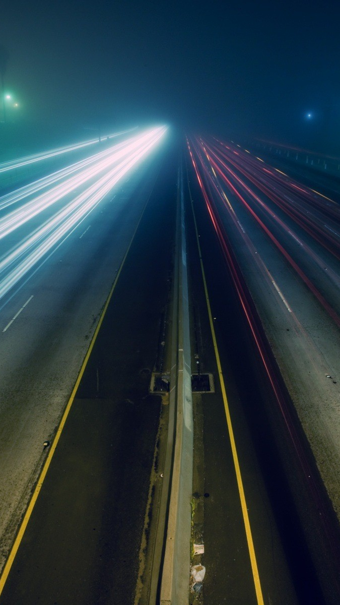 Cute Girl Phone Wallpapers Highway High Traffic Fast Cars Long Exposure Iphone