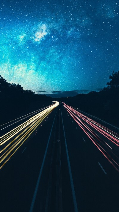 Highway-Lights-Long-Exposure-iPhone-Wallpaper - iPhone Wallpapers