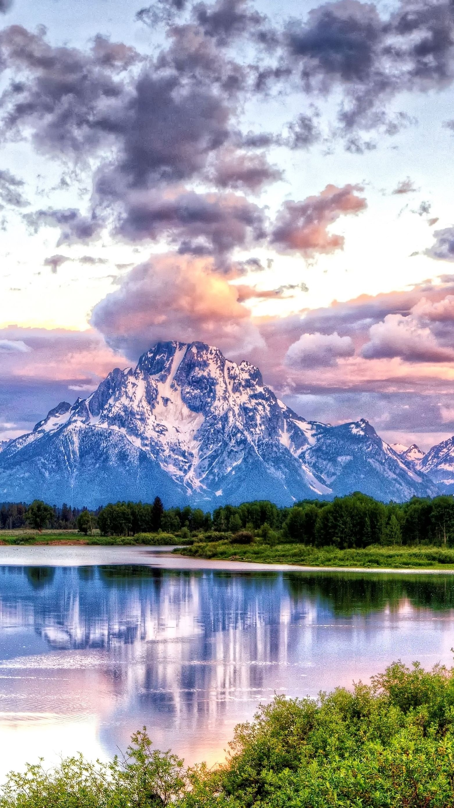 Beautiful Colorful Girls Anime Wallpaper Oxbow Bend Grand Teton National Park Iphone Wallpaper