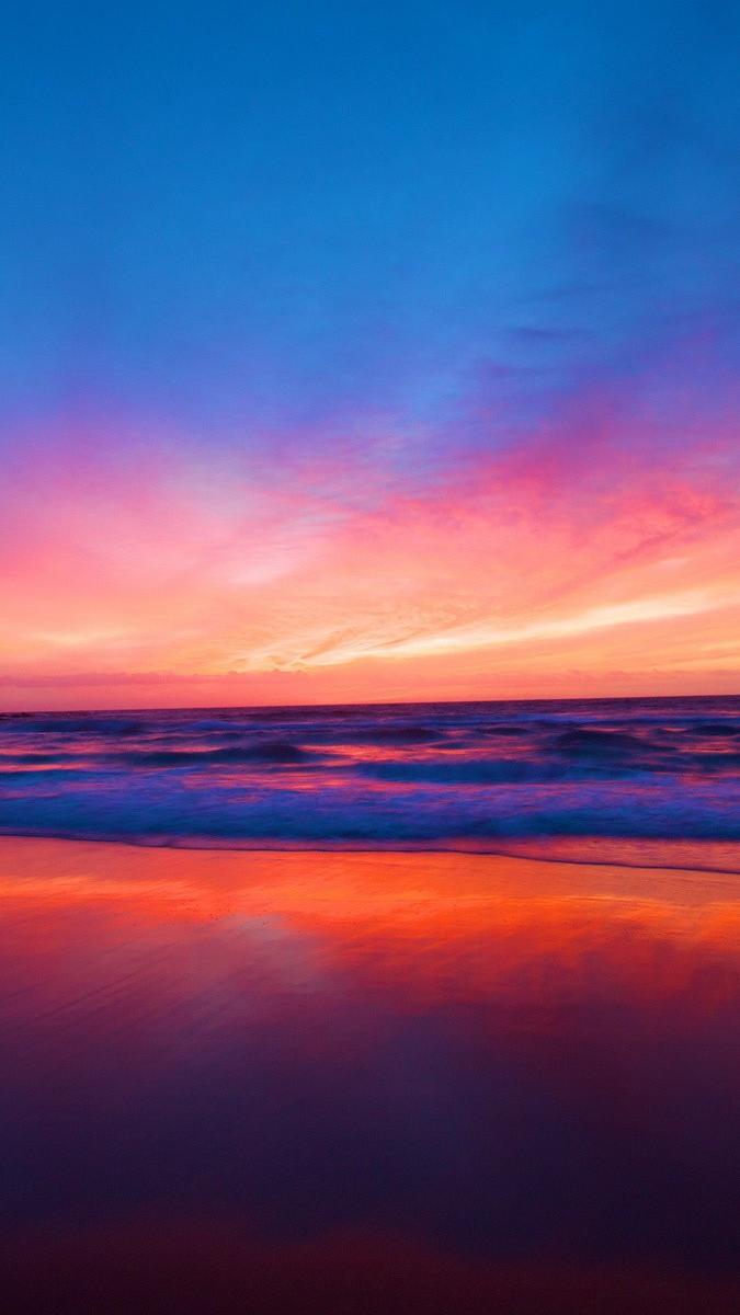 Download Wallpaper Iphone X Sunset Beach Ocean Iphone Wallpaper Iphone Wallpapers