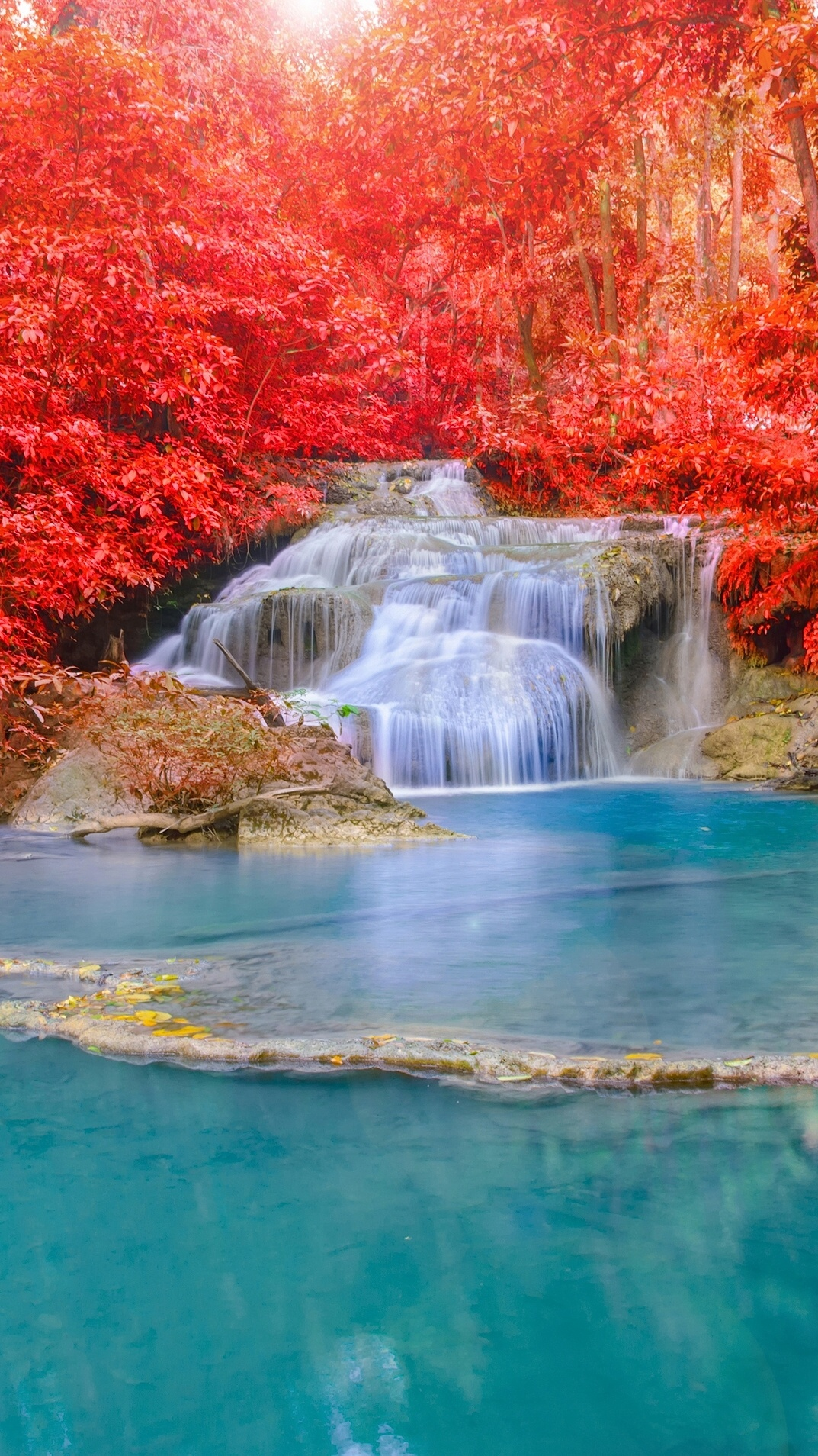 Animated Fall Wallpaper Waterfall River Iphone Wallpaper Iphone Wallpapers