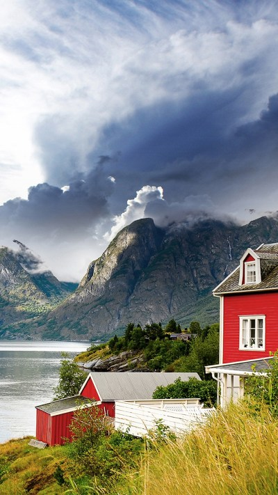 House-Near-the-Lake-iPhone-Wallpaper - iPhone Wallpapers