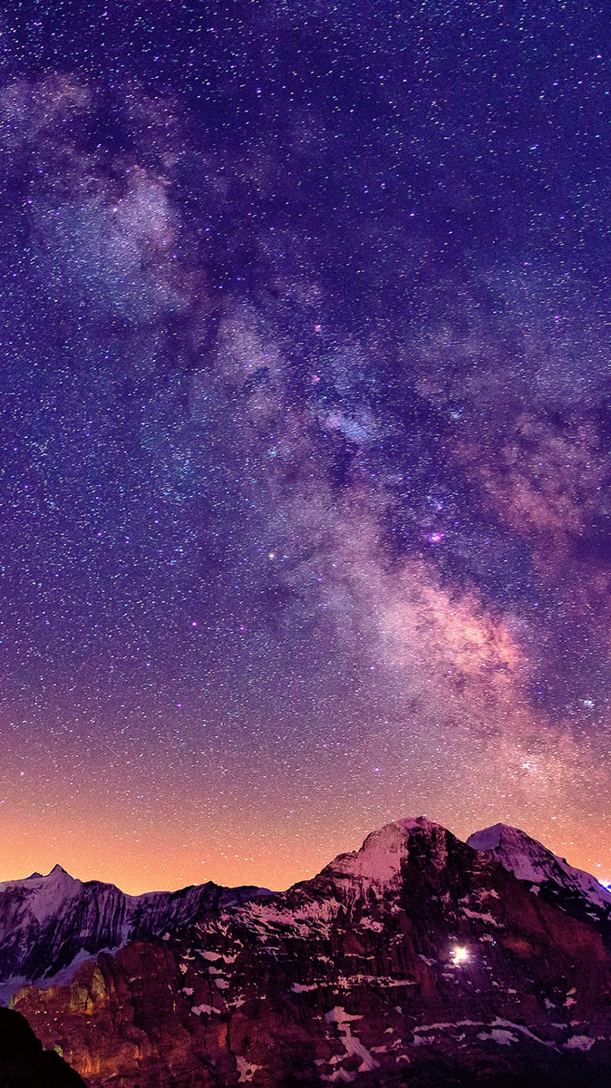 Cute Wallpapers Images Download Milky Way From Mountains Iphone Wallpaper Iphone Wallpapers